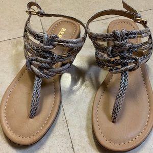 Report Snakeskin Sandals, Size 7.5